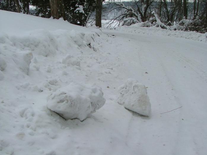 snow boulders