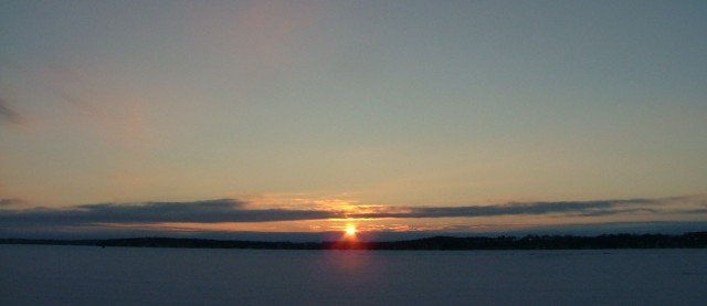 february 8th, 2013, sunrise over frozen green lake 004