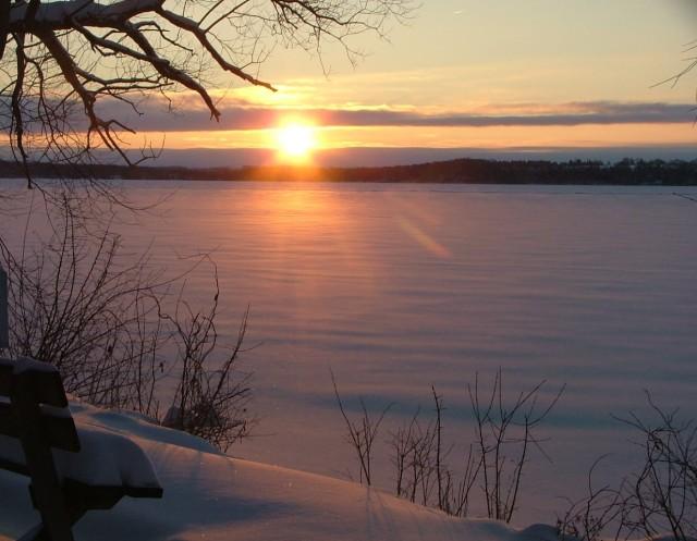 february 8th, 2013, sunrise over frozen green lake 015
