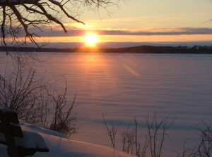 february 8th, 2013, sunrise over frozen green lake 015