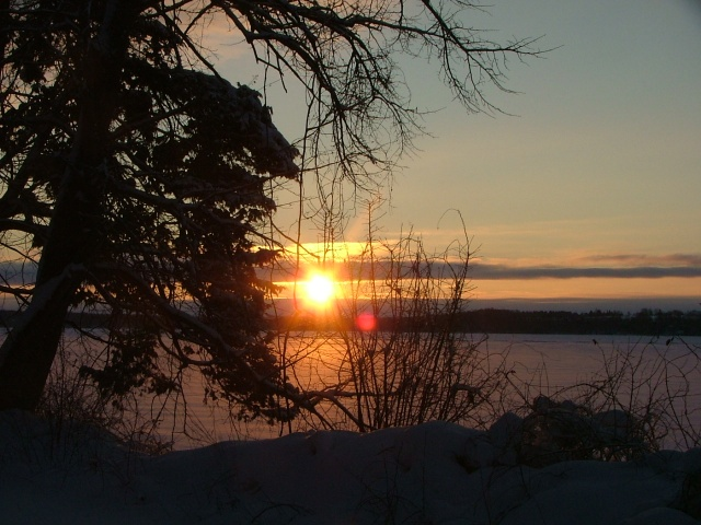 february 8th, 2013, sunrise over frozen green lake 017