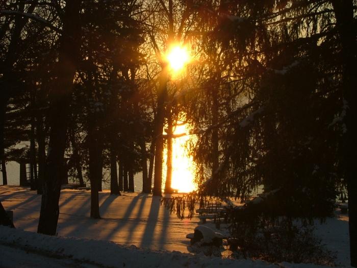 Sunrise snowy morning 015
